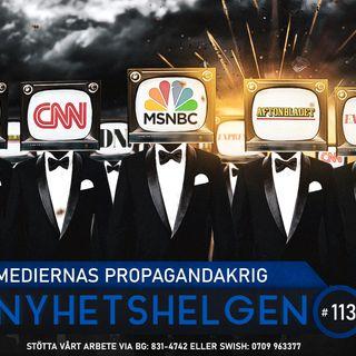 Nyhetshelgen 113 – Mediernas propagandakrig, peddocentern, Sverige under attack