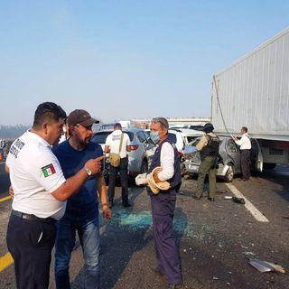 Muere otra víctima del choque múltiple en Veracruz