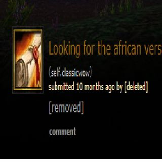 the search for wow's first africa release