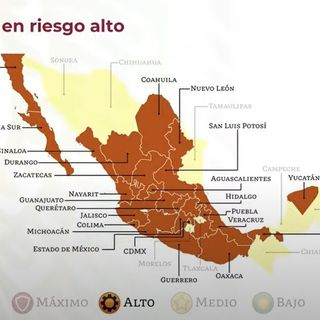 México se pinta de naranja en semáforo epidémico