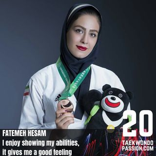Fatemeh Hesam: I enjoy showing my abilities, it gives me a good feeling