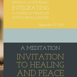 """Invitation to Healing and Peace"""
