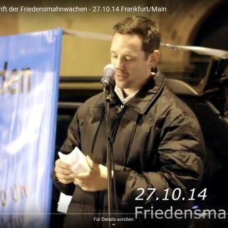 Franky Reflexion und Zukunft der Friedensmahnwachen (Mahnwache Frankfurt 27.10.2014)
