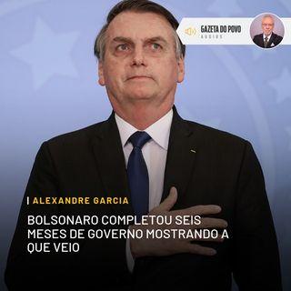 Bolsonaro completou seis meses de governo mostrando a que veio