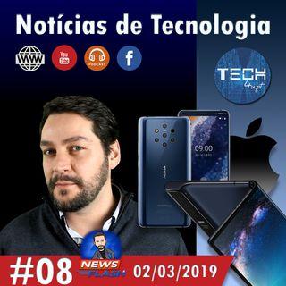 Huawei Mate X, Nokia 9 e Intel 5G  - Notícias #08