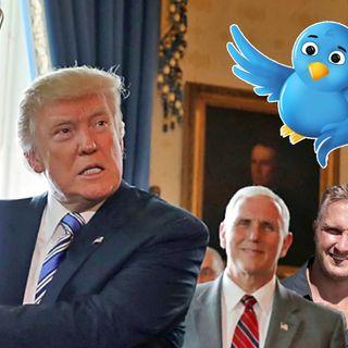 Trump slår tillbaka mot Twitter Anton och Jonas