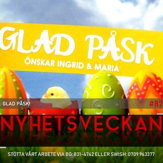 Nyhetsveckan #87 – Glad Påsk!, sossarna jublar, hatar Maria stockholmare?
