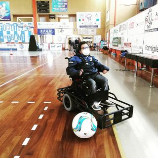 Donato Grande e il Powerchair Football