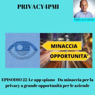 EPISODIO 22-Le app spiano-  Da minaccia per la privacy a grande opportunità per le aziende