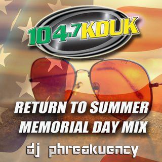 104.7 KDUK Eugene, OR Memorial Day Mix