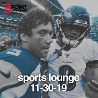 The 3 Point Conversion Sports Lounge- NFL MVP Race, Is It Over For Dallas, NCAA Football Rivalry Week, Are The Lakers Best Team.