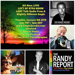 Left of Str8 Show:  Special Guest Writer/Actor Choreographer Randy Slovacek
