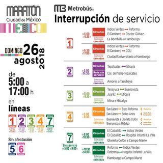Cierre de calles por la Maratón de la CDMX