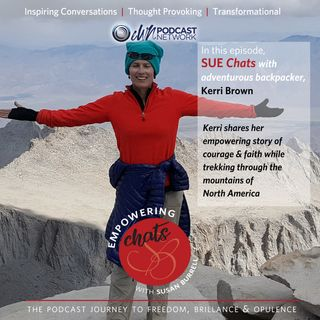 Susan chats with adventurous backpacker, Kerri Brown.