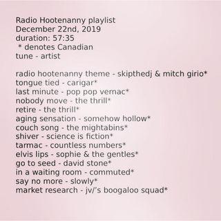 Radio Hootenanny Late December 2019