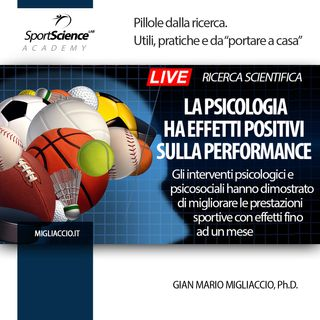 Effetti psicologici e psicosociali nelle performance sportive