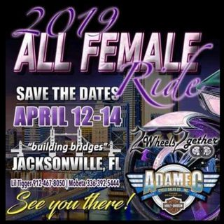 We in J Ville for the ALL FEMALE RIDE