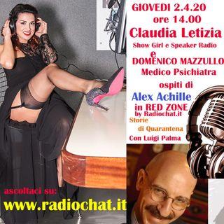 Claudia Letizia e il Prof. Dott. Domenico Mazzullo (Psichiatra) a RED ZONE