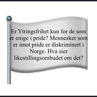 Er det ulovlig å være imot Pride i Norge?