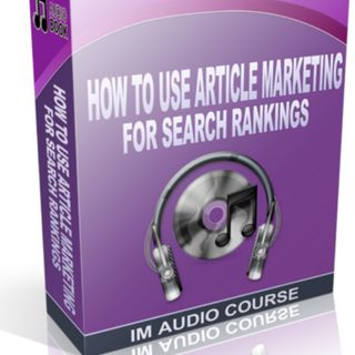 Article marketing for search rankings