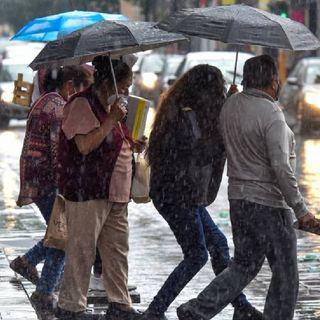 Continúan lluvias en la CDMX