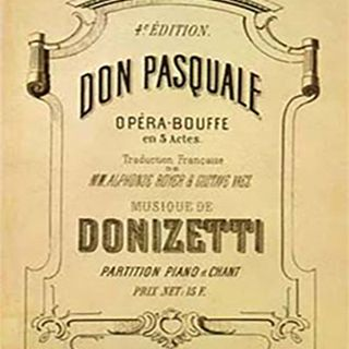Tutto nel Mondo è Burla - Stasera all' opera - G. Donizetti Don Pasquale