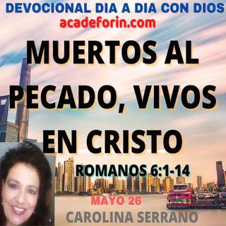 MUERTOS AL PECADO, VIVOS EN CRISTO