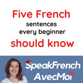 Five French Sentences every beginner should know! How to  learn and speak French.