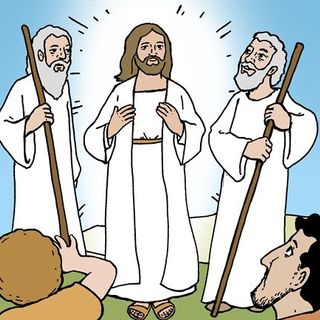 Mentre Gesù pregava, il suo volto cambiò di aspetto.
