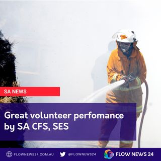 Great volunteer performance by SA CFS (@CFSAlerts) and SES (@SA_SES)