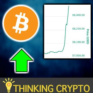 BITCOIN GOES PARABOLIC - Prices Jumps from $8K to Near $8,600 in 1 Hour - HODL!!