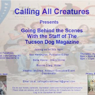 Calling All Creatures Welcomes Ann Herrington, Bella Wexler, and Bonnie Craig