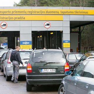 Водители, желающие избежать нового налога, направились в Regitra