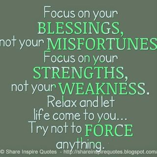 Thanksgiving - Focus on Your Blessings