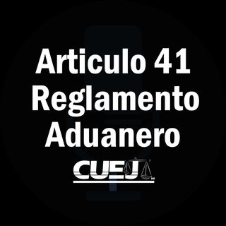 Articulo 41 Reglamento de la ley aduanera México