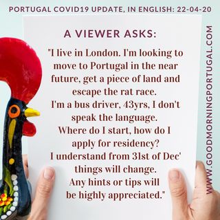 Portugal Covid19 Update & 'Moving to Portugal Q&A'