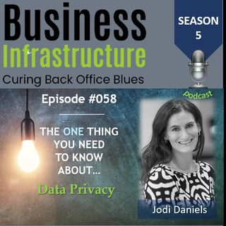 Episode 58: The One Thing You Need to Know About Data Privacy   Jodi Daniels