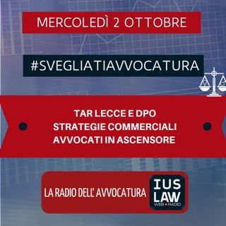 TAR LECCE E DPO – STRATEGIE COMMERCIALI – AVVOCATI IN ASCENSORE – #SvegliatiAvvocatura