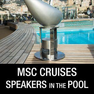 Diffusori acustici da esterno nelle navi da Crociera MSC Divina e Preziosa