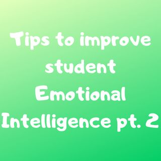Tips to Improve Student Emotional Intelligence pt. 2
