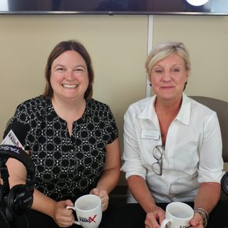Jessica Wade with Jessica Wade Real Estate and Kay Blackstock with Georgia Mountain Food Bank