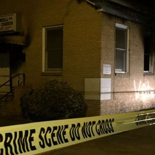 "Historically Black Church Burned, Spray Painted With ""Vote Trump"""