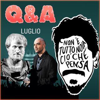 L'inutilità della filosofia, Roberto Saviano, Destra-Sinistra e Scuola - Q&A di luglio