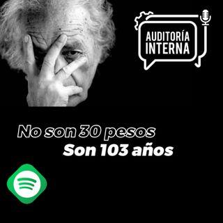 No son 30 pesos, sin 103 años