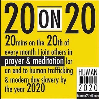 END HUMAN TRAFFICKING 20 ON 20 FOR MARCH