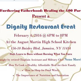 Furthering Fathering Let's Talk - Healthy Living & Our Dignity Restaurant Event