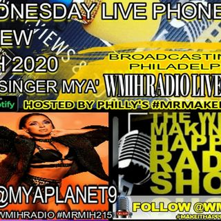 MIH Wed Live Phone Interview Replay with R&B Pop Star Mya 12/09/2020