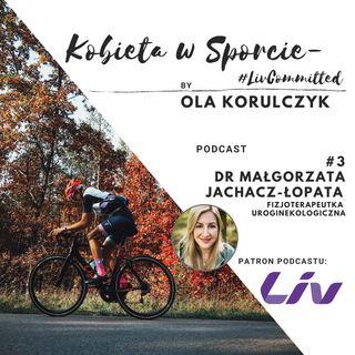 Kobieta w Sporcie #LivCommitted - Dr Małgorzata Jachacz-Łopata, fizjoterapeutka uroginekologiczna, wpływ sportu na ciało, aktywność w ciąży!