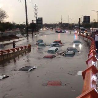 Fuertes lluvias en San Nicolás de los Garza
