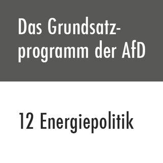 Das Grundsatzprogramm der AfD – 12 Energiepolitik